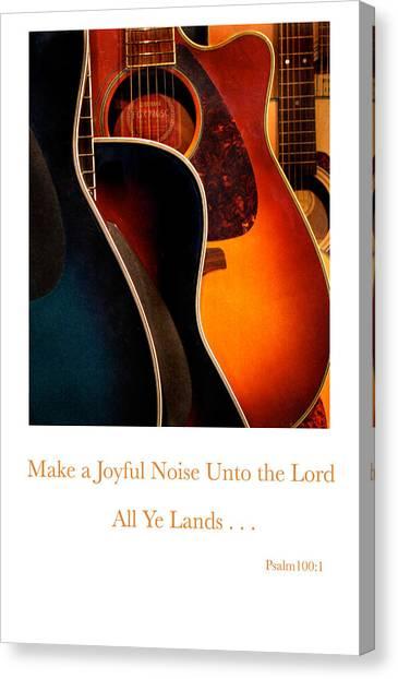 Make A Joyful Noise Canvas Print by Linda Merkel