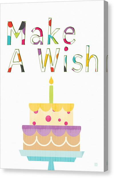 Cakes Canvas Print - Make A Wish- Art By Linda Woods by Linda Woods