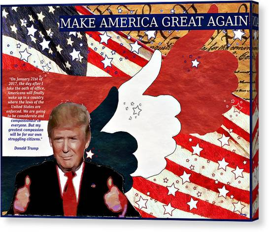Make America Great Again - President Donald Trump Canvas Print