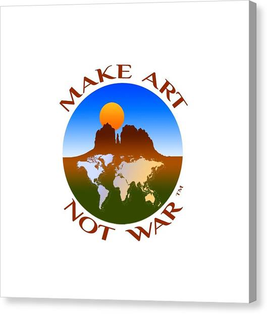 Make Art Not War Logo Canvas Print