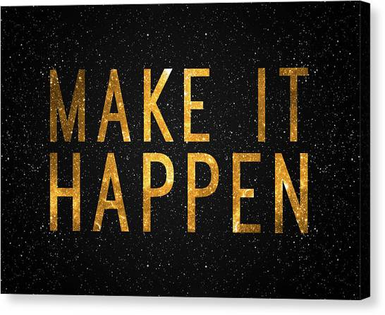 Office Canvas Print - Make It Happen by Zapista