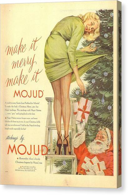 Canvas Print featuring the digital art Make It Merry...make It Mojud by Reinvintaged