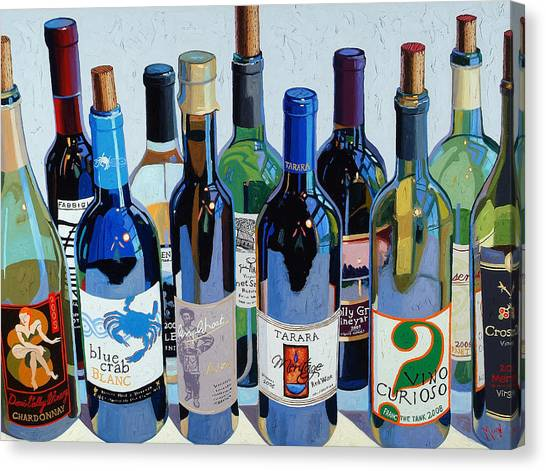 Wine Art Canvas Print - Make Mine Virginia Wine Number Three by Christopher Mize