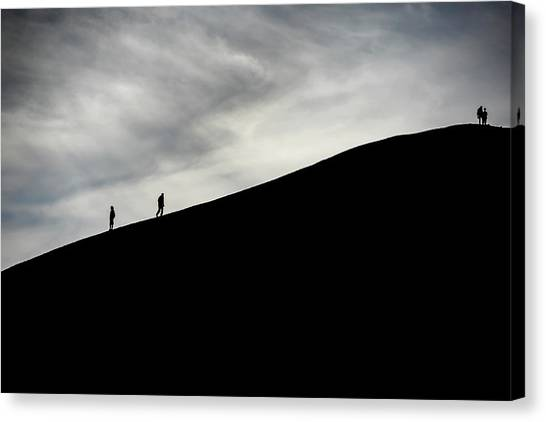 Canvas Print featuring the photograph Make The Climb by Pradeep Raja Prints