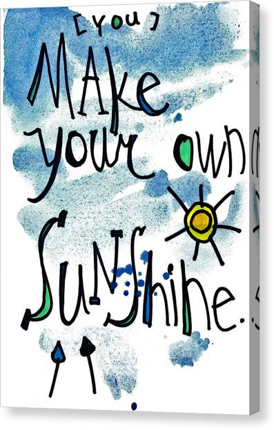 Make Your Own Sunshine Canvas Print