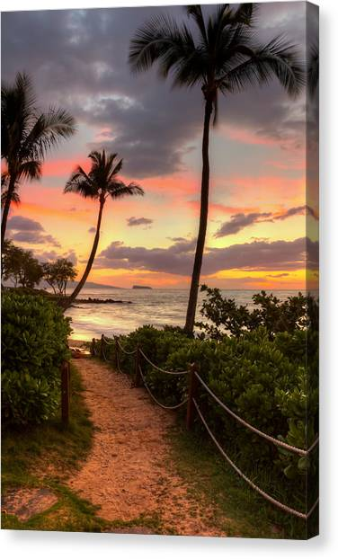Makena Sunset Path Canvas Print