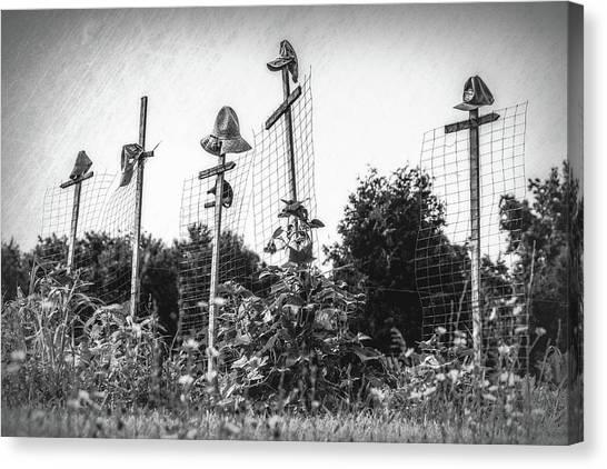 Scarecrows Canvas Print - Makeshift Scarecrows by Tom Mc Nemar