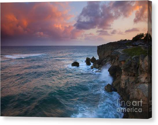 Storms Canvas Print - Makewehi Sunset by Mike  Dawson