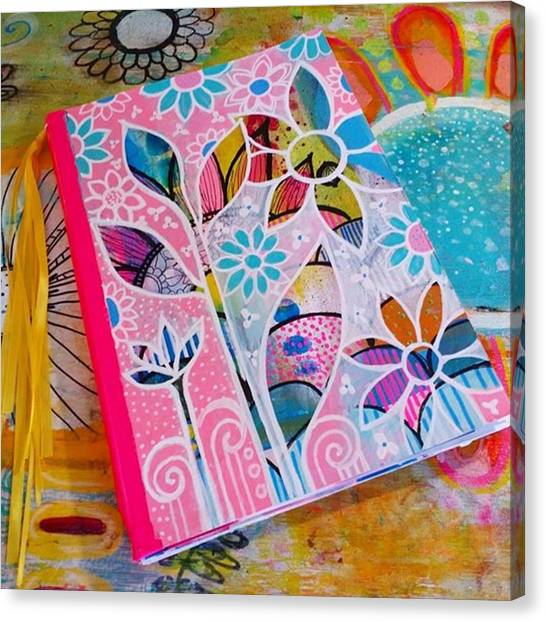 Canvas Print - Making #meadori Style #artjournals by Robin Mead