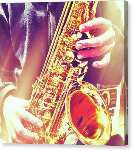 Saxophones Canvas Print - Making Music #366challenge  #music by Mo Barton