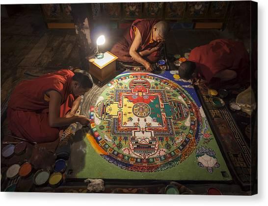 Making Of Mandala Canvas Print