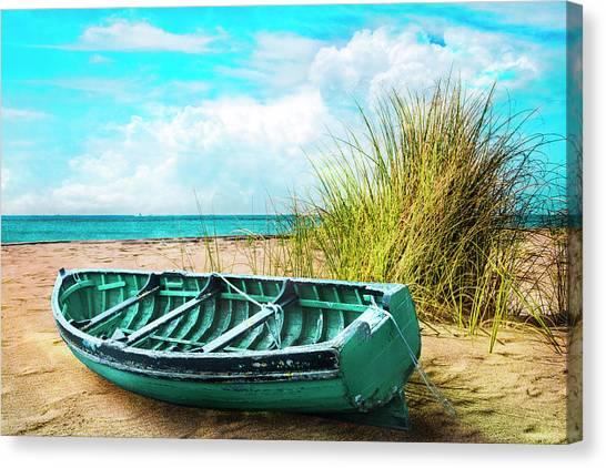 Flagler Beach Canvas Print - Making Summer Memories by Debra and Dave Vanderlaan