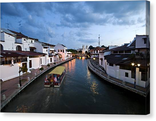 Malacca River Canvas Print