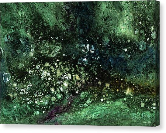 Celestial Canvas Print - Malachite- Abstract Art By Linda Woods by Linda Woods