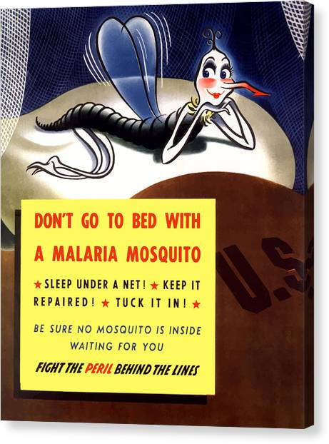 Ww1 Canvas Print - Malaria Mosquito by War Is Hell Store