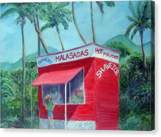 Malasada Stand Canvas Print by Mike Segura