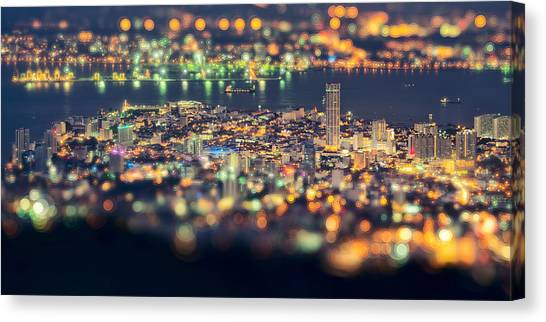 Skylines Canvas Print - Malaysia Penang Hill At Night by Jordan Lye