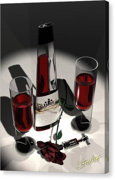 Malbec Wine - Romance Expectations Canvas Print