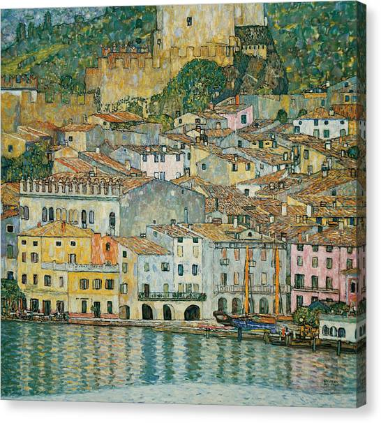 Gustav Klimt Canvas Print - Malcesine  Lake Garda by Gustav Klimt