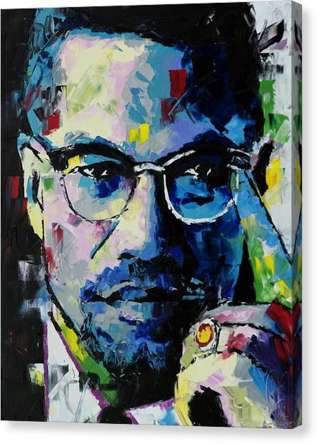 Racism Canvas Print - Malcolm X by Richard Day