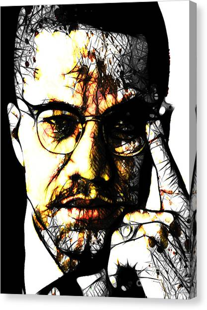 Malcolm X Canvas Print by The DigArtisT