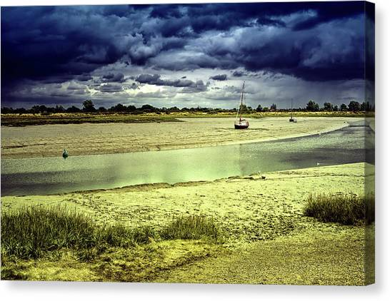 Maldon Estuary Towards The Sea Canvas Print