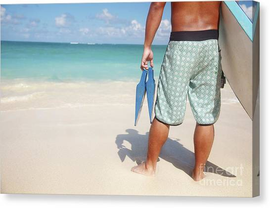 Bodyboard Canvas Print - Male Bodyboarder by Brandon Tabiolo - Printscapes