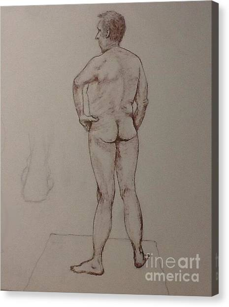 Male Life Drawing Canvas Print