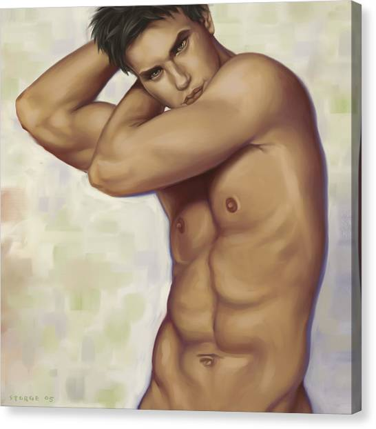 Male Nude 1 Canvas Print