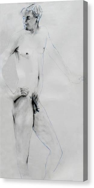 Male Nude 4803 Canvas Print