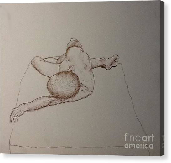 Male Nude Life Drawing Canvas Print