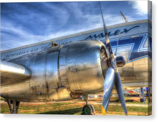 Ilyushin Canvas Print - Malev Ilyushin Il-14 Aircraft by David Pyatt
