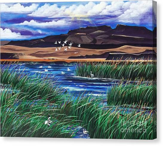 Malhuer Bird Refuge Canvas Print