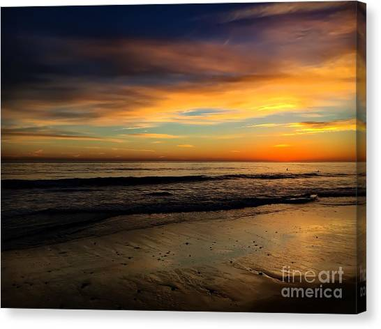 Malibu Beach Sunset Canvas Print