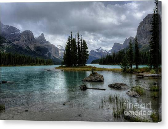 Maligne Lake Spirit Island Jasper National Park Alberta Canada Canvas Print