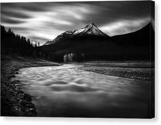 Maligne River Autumn Canvas Print