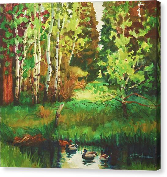 Ducks Canvas Print - Mallard Grove by Steve Henderson