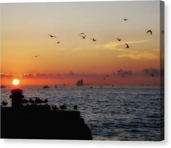 Mallory Square Sunset Canvas Print by JAMART Photography
