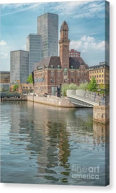 Western Conference Canvas Print - Malmo Live Building Blocks Editorial by Antony McAulay