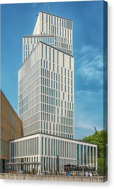 Western Conference Canvas Print - Malmo Live Building Blocks Facade by Antony McAulay