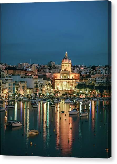 Malta Blue 6 Canvas Print