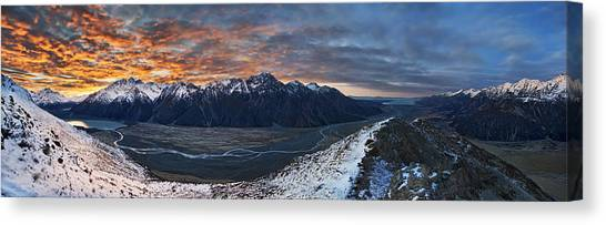 Alps Canvas Print - Malte Brun Range by Yan Zhang