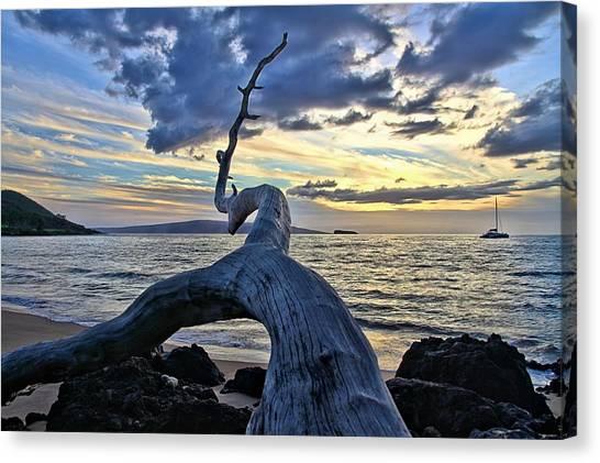 Maluaka Beach Sunset Canvas Print