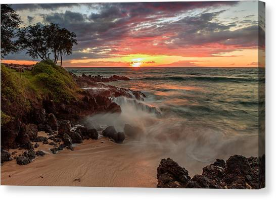 Maluaka Beach Sunset Canvas Print