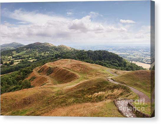 Ditch Canvas Print - Malvern Hills by Colin and Linda McKie
