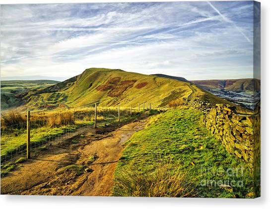 Peak District Canvas Print - Mam Tor by Smart Aviation