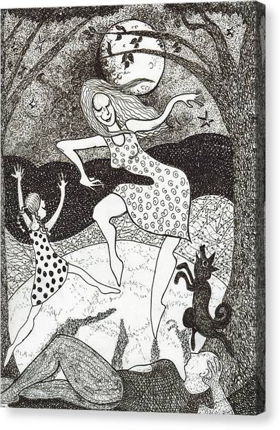 Mama Did The Moon Dance Canvas Print