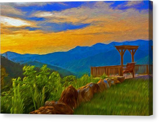 Blue Ridge Sunset From Mama Gertie's Hideaway Canvas Print