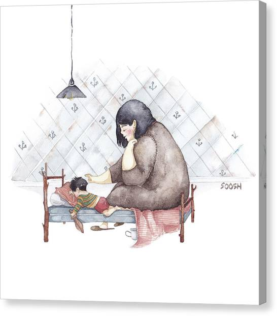 Boy Canvas Print - Mama by Soosh