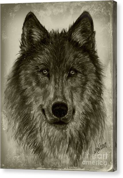 Mama Wolf Vintage Canvas Print